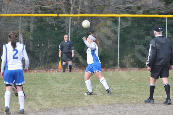 Deer Isle-Stonington 3-2 loss to Limestone in the Class D girls' soccer playoffs.