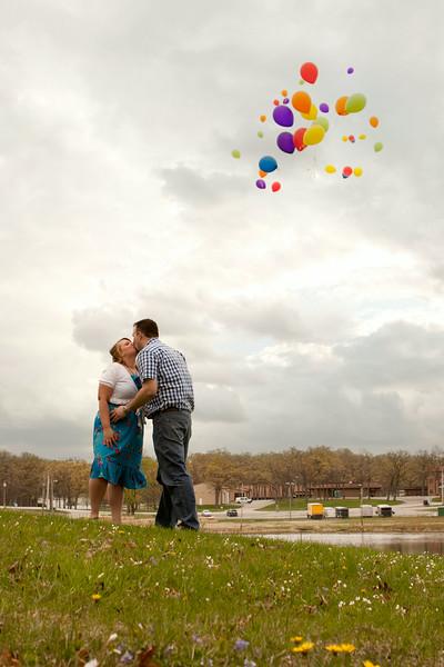 Emily Waggoner & Joe Koranek Engagement Session Lake County Fairgrounds - Crown Point, Indiana