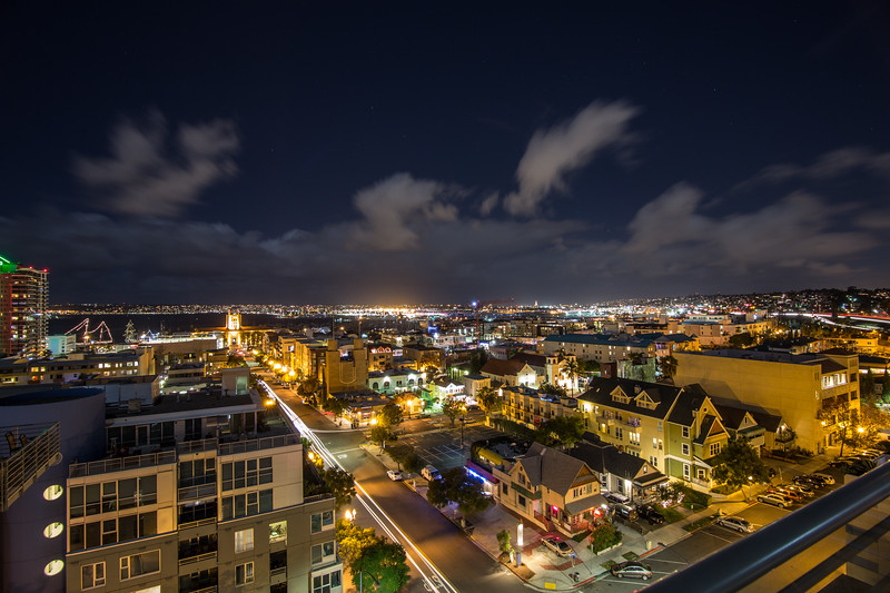 View from my brother's apartment building in downtown San Diego