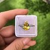 3.00ct Yellow Orange Sapphire Solitaire 54