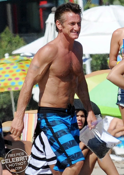 Toned Sean Penn Take His Girlfriend On A Jet Ski In Malibu, California
