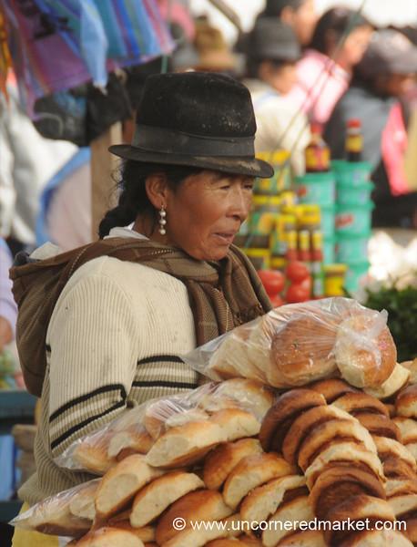 Selling Bread - Saquisili, Ecuador