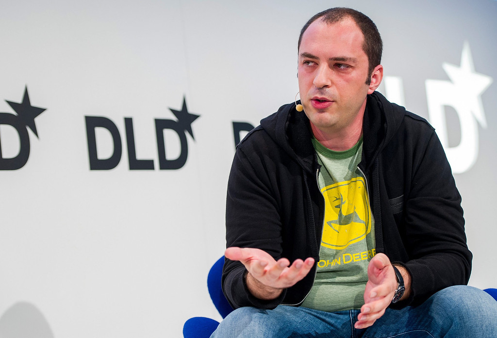 . A file picture dated 20 January 2014 shows Jan Koum, founder of messaging service WhatsApp, speaking during the Digital Life Design conference in Munich, Germany, 20 January 2014.  Facebook announced on 19 February 2014 that it will buy messaging service WhatsApp for 19 billion dollars.  EPA/MARC MUELLER