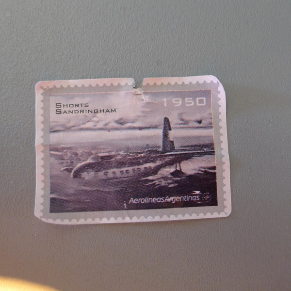 on the food box on Aerolineas Argentinas flights they were using stamps like this of type of aircraft they have used.