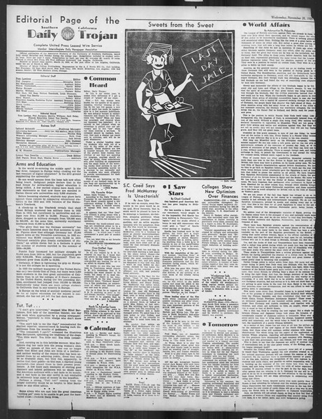 Daily Trojan, Vol. 27, No. 42, November 20, 1935
