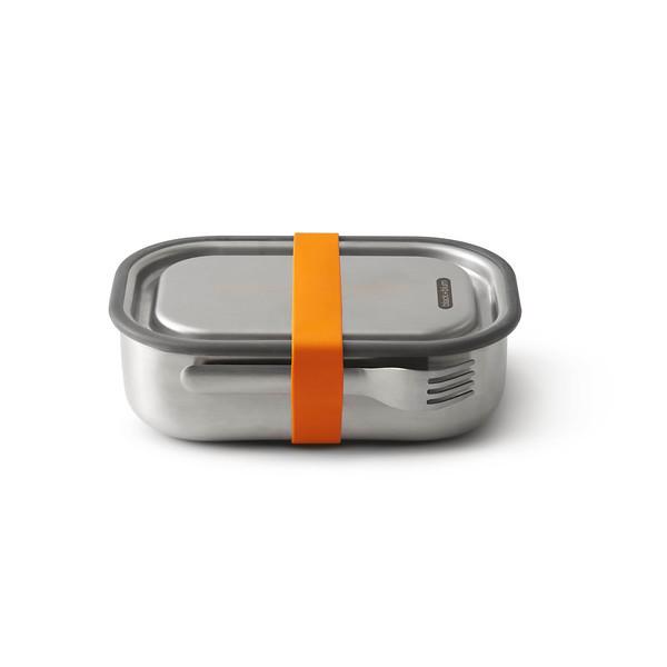 Stainless Steel Lunch Box Large orange Black Blum