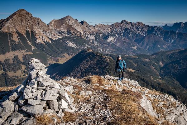 Alpy - ferrata Bosruck - listopad 2018