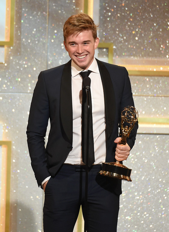 . Actor Chandler Massey onstage during The 41st Annual Daytime Emmy Awards at The Beverly Hilton Hotel on June 22, 2014 in Beverly Hills, California.  (Photo by Michael Buckner/Getty Images)