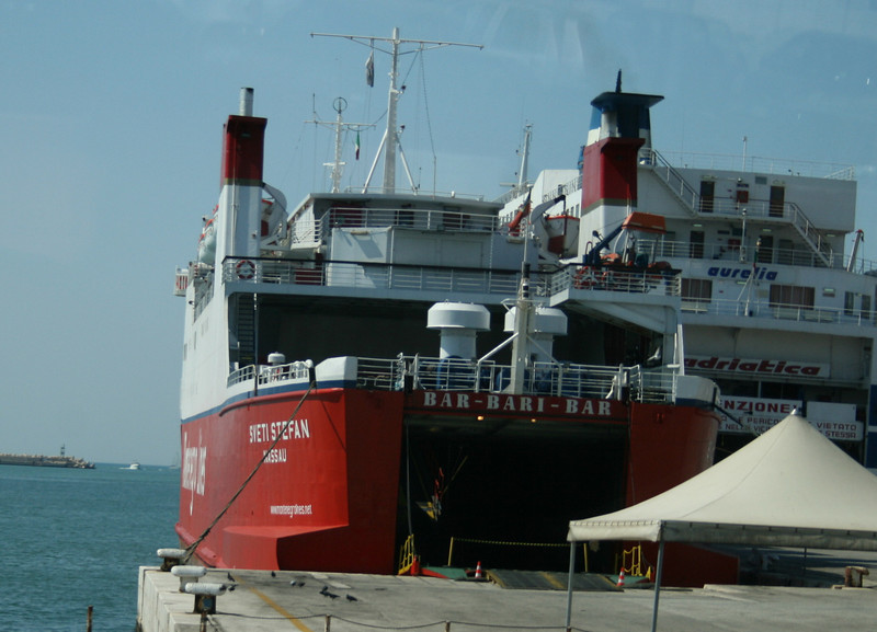 2008 - F/B SVETI STEFAN in Bari.