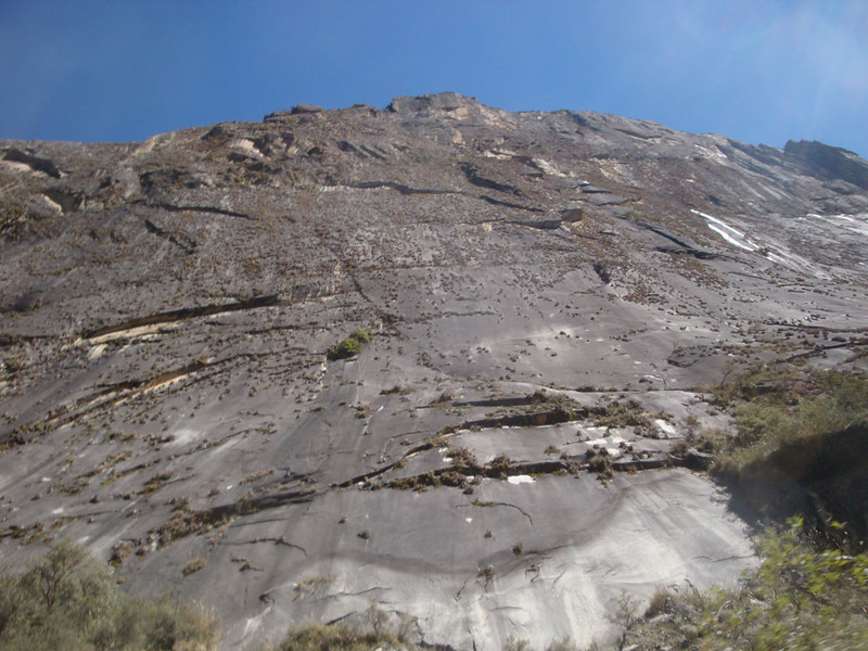 The Llanganuco road wound beneath the massive Chinancocha cliff rising above the lakes. It appeared to offer world-class climbing.