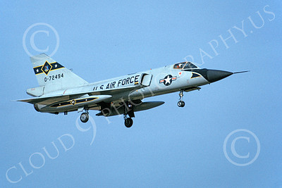 U.S. Air Force 95th Fighter-Interceptor Squadron MR. BONES Military Airplane Pictures