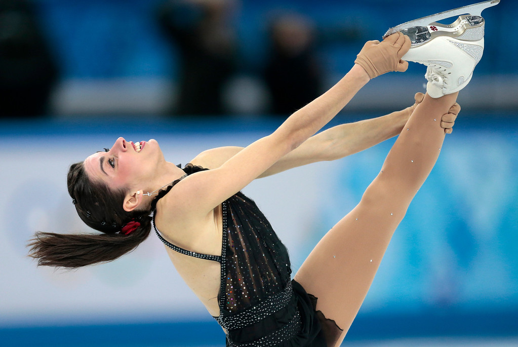 . Valentina Marchei of Italy competes in the women\'s free skate figure skating finals at the Iceberg Skating Palace during the 2014 Winter Olympics, Thursday, Feb. 20, 2014, in Sochi, Russia. (AP Photo/Ivan Sekretarev)
