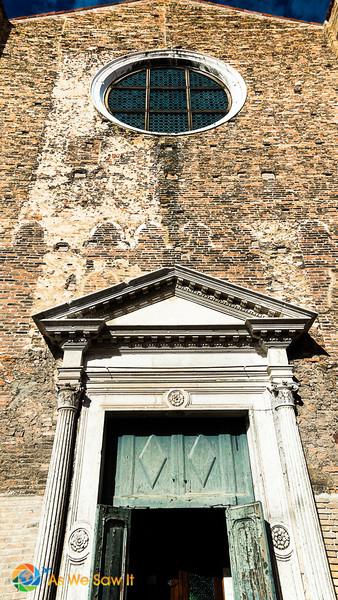 Doorway to Church of Saint Peter the Martyr, Murano