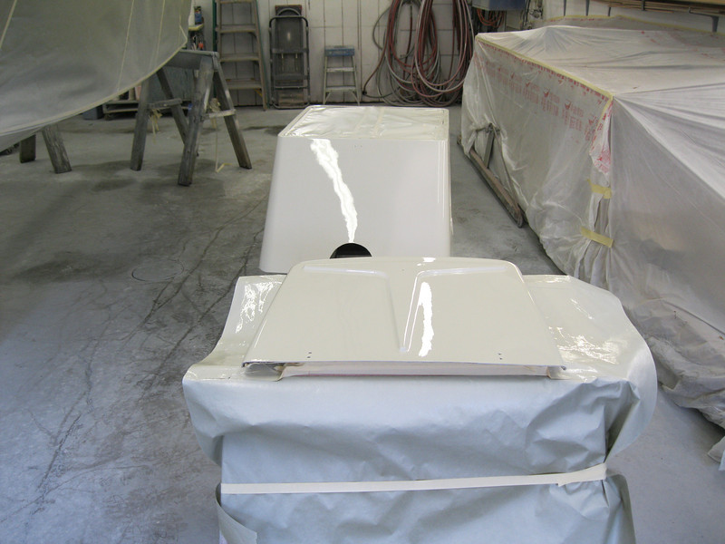 Engine box and front deck hatch painted.