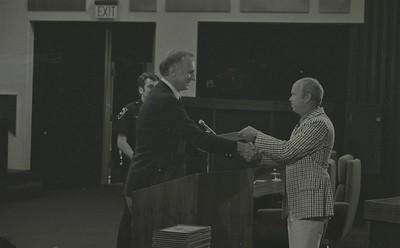 Mayor Hudnut Presents IPD Awards at City-County Council Chamber, Circa 1977, Img. 10