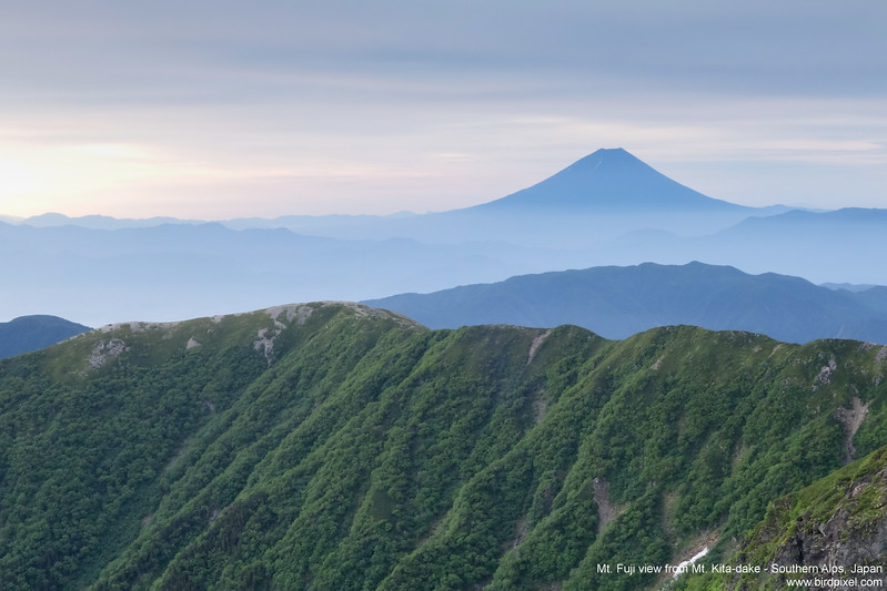 Mt. Fuji view from Mt. Kita-dake - Southern Alps, Japan