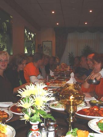 Senioren competitie ploeg eet bij Asia