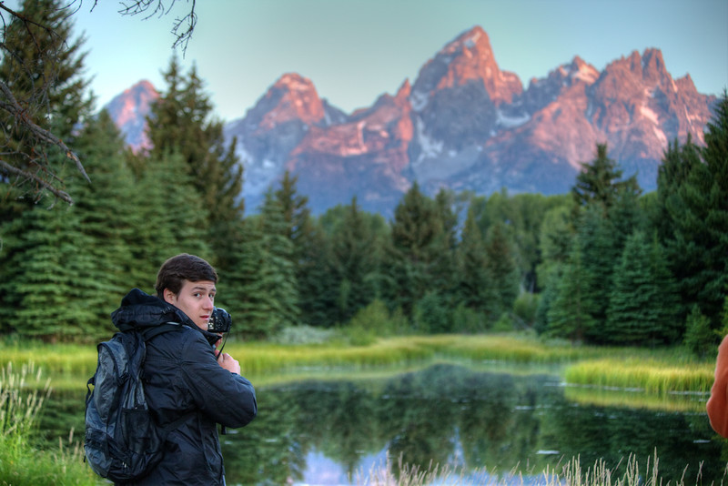 Jared discovers the wonders of Grand Teton National Park and the value in getting up at 4:30am - Schwabacker's Landing - Jackson Hole, Wyoming