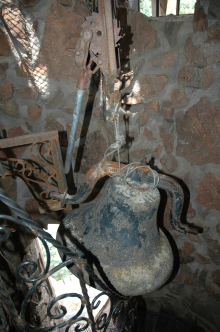 One of two bells heard now and then, located in the left (tallest) tower.