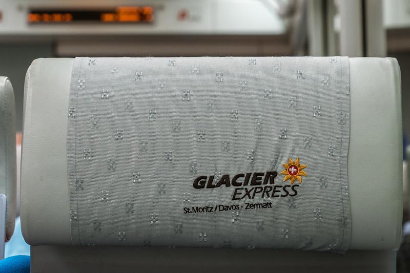 Glacier Express goes from Davos to Zermatt, Switzerland