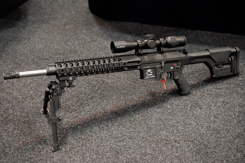 . This is the style of rifle that Christopher Dorner used.