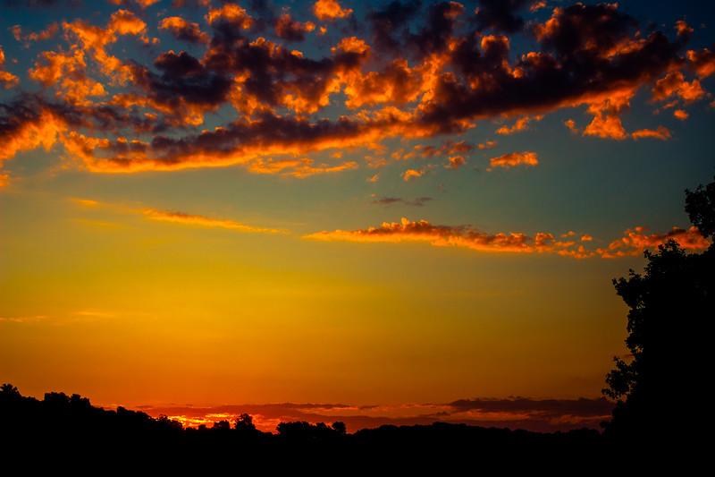 Sunset over Hobbs State Park