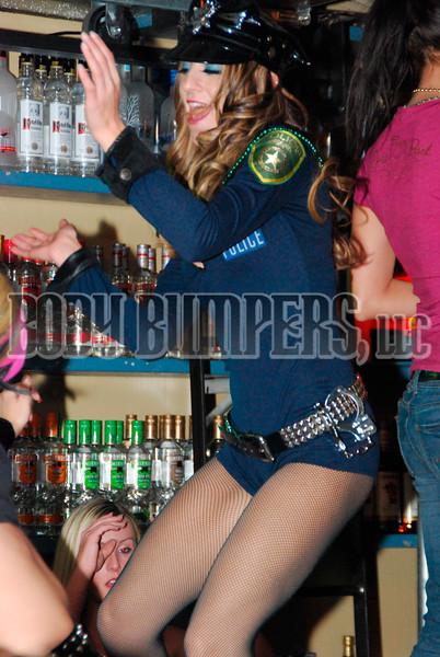 """Female Corrections Officers Dancing"" - Halloween @ West Shore Hardware Bar - October 31, 2008 - Nikon D60 - Mark Teicher"