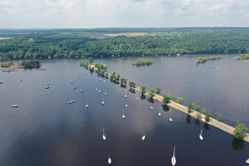 St. Croix River dike at Hudson