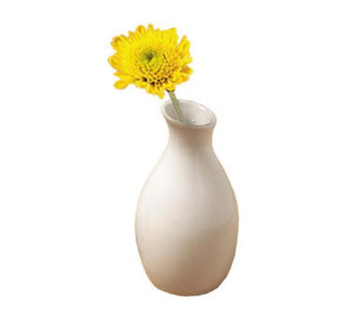 "We have (27) of these white ceramic bud vases.  Measurements are 3.78"" H x 2"" D"