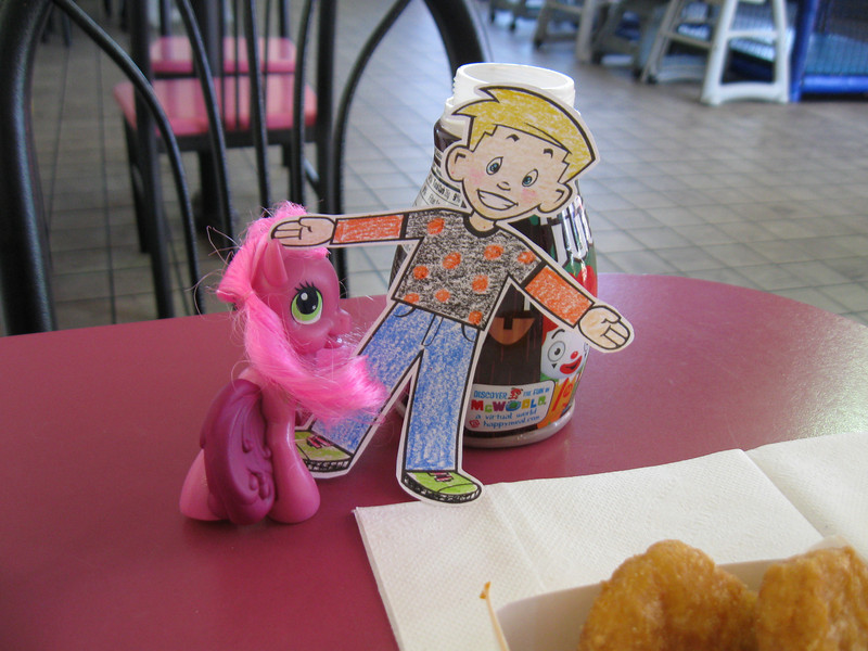 Stanley made a new pony friend and enjoyed a nugget, or two.