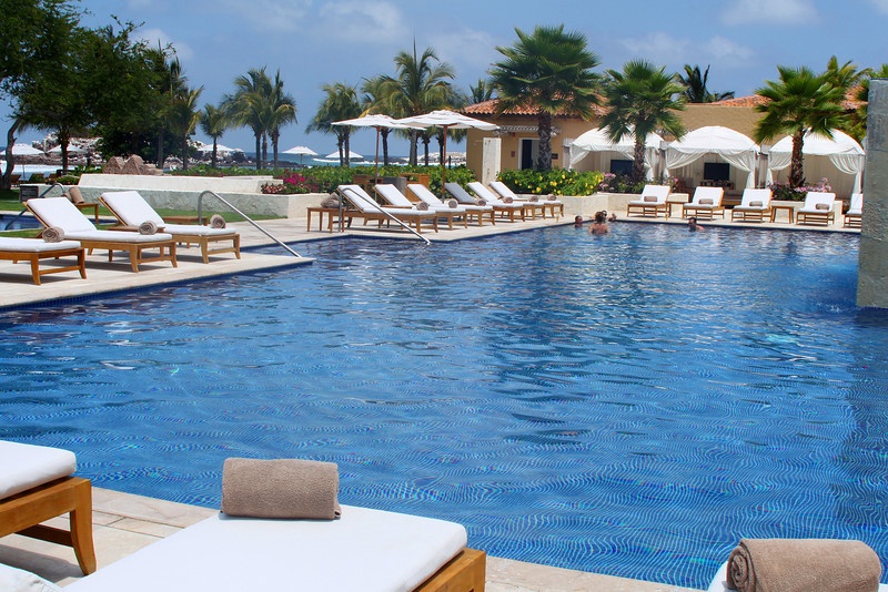 The adult swimming pool at the St. Regis.
