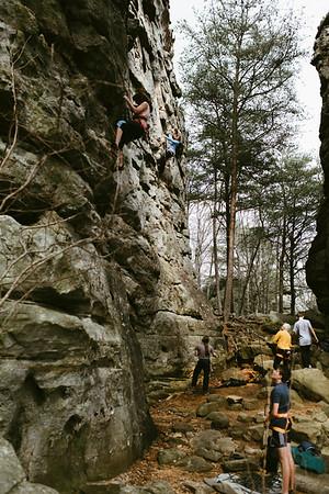 St. Patrick's Day wknd: Climbing at Sandrock + Horse Pens 40
