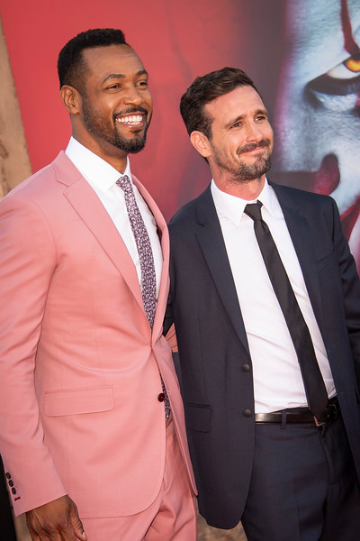 """WESTWOOD, CA - AUGUST 26: Isaiah Mustafa and James Ransone attend the Premiere Of Warner Bros. Pictures' """"It Chapter Two"""" at Regency Village Theatre on Monday, August 26, 2019 in Westwood, California. (Photo by Tom Sorensen/Moovieboy Pictures)"""