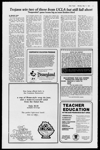 Daily Trojan, Vol. 90, No. 59, May 11, 1981