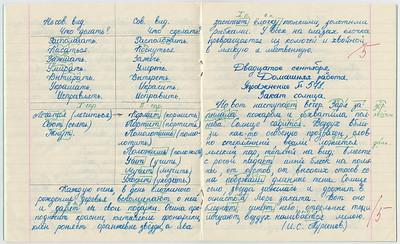 1987-09-02...1987-10-16, 6th grade Oxana's copybook on Russian