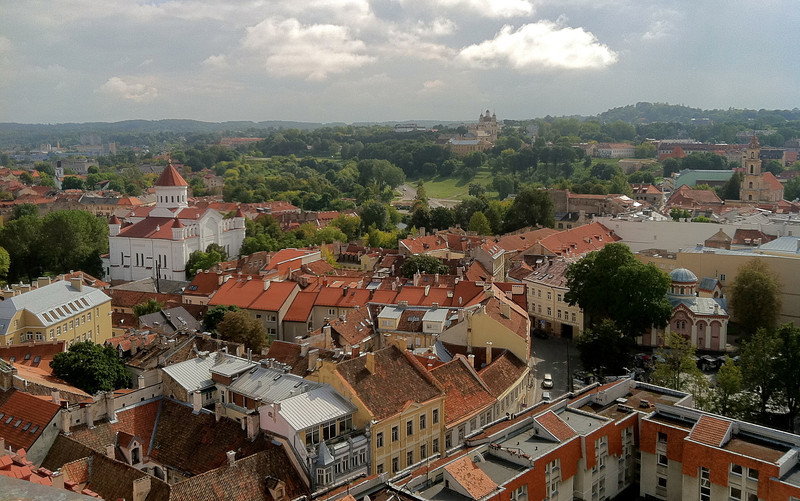 Overlooking the Old Town of Vilnius, Lithuania -one of the largest surviving medieval old towns in Northern Europe