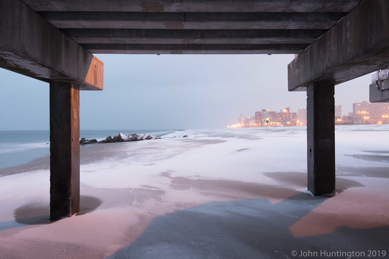 Coney Island at the start of a blizzard, January 26, 2015