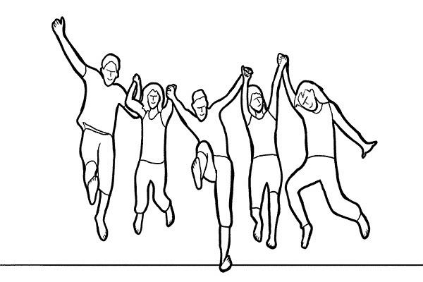 拍摄姿势系列 - 团体照拍摄姿势 - 一镜收江南 - 清韵