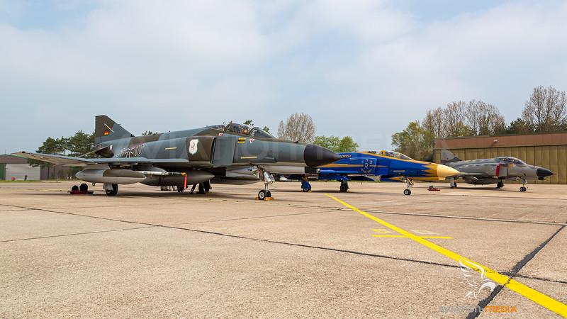 Germany - Air Force / McDonnell Douglas F-4F Phantom II / 38+10, 37+01 and 38+33