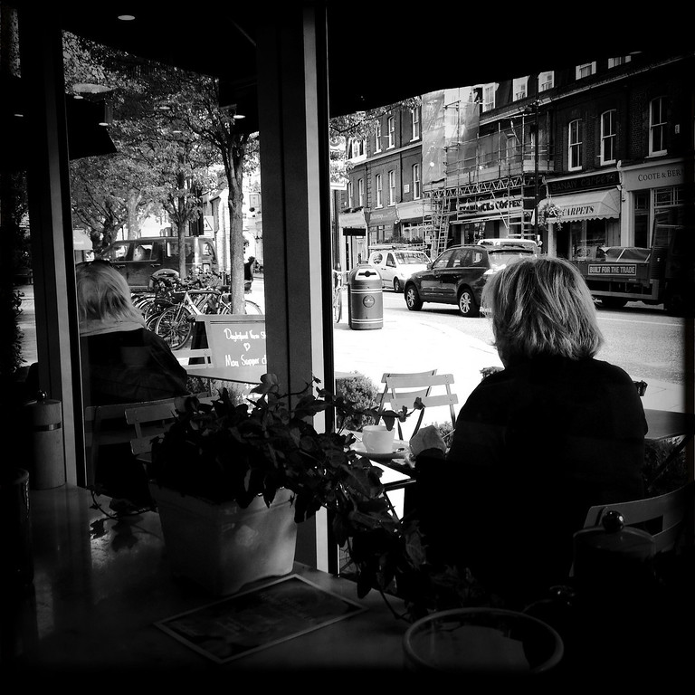 . A woman sits in a cafe on April 30, 2012 in London, England.  (Photo by Vittorio Zunino Celotto/Getty Images)