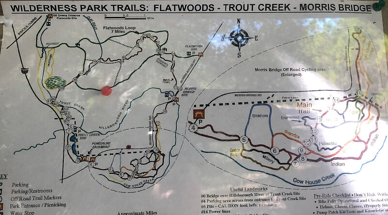 Wilderness Park Trails trail map
