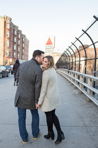 Stefanie & Brian's Sunset Kenmore Square Engagement Session