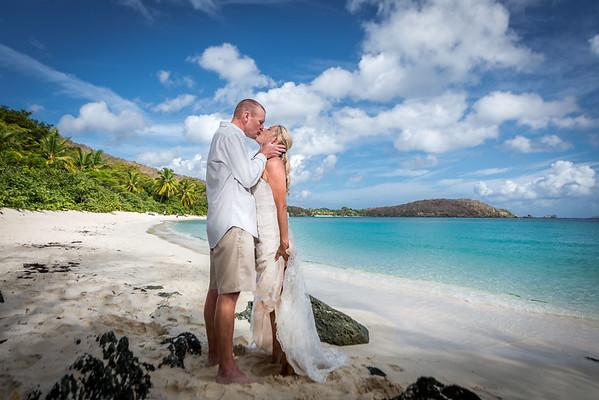 St. John Wedding Hawksnest Beach {Stephanie+David}