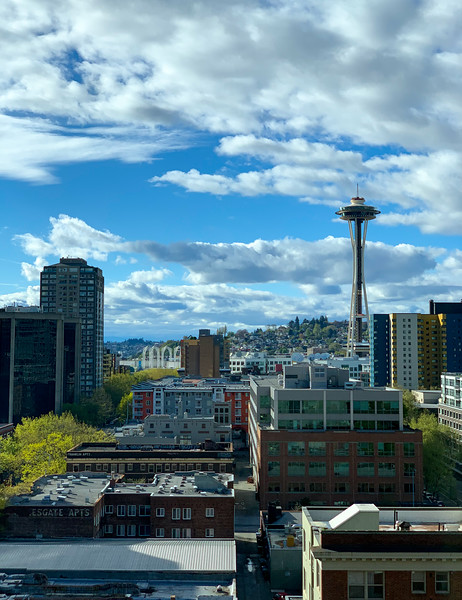 View of the Space Needle from Belltown