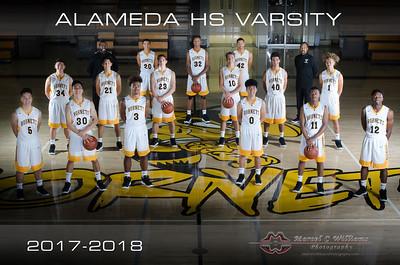 2018 Alameda High Basketball Varsity