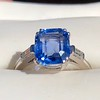 Vintage-Inspired and Contemporary 3.03ct Blue Sapphire Ring (GIA, No-Heat)) 0