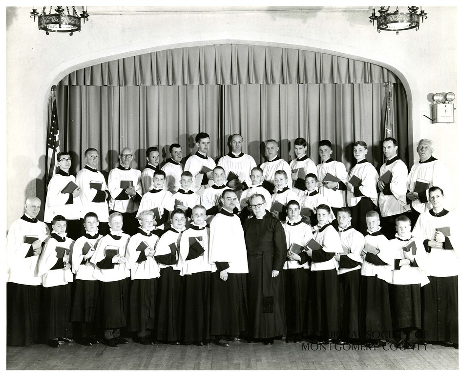 . This photo from the Historical Society of Montgomery County is a group picture taken at St. John\'s Episcopal Church in Norristown in 1964.
