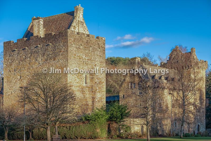 Majestic Buildings of Dean Castle in East Ayrshire Kilmarnock Scotland.