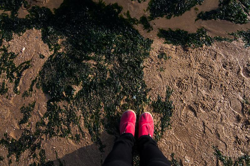 Standing on Haeundae Beach