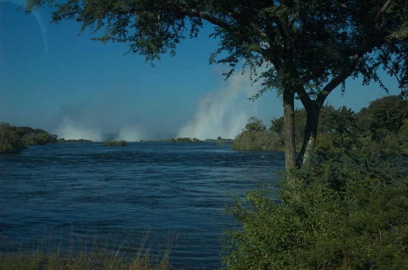 Mist from Victoria Falls, Zambezi River - Leslie Rowley